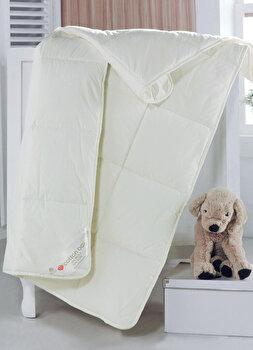 Pilota de pat pentru copii, Cotton Box, bumbac, 95 x 145 cm, 129CTN9703, Alb imagine
