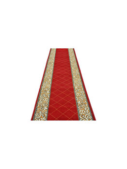 Traversa Decorino Modern & Geometric CT1046-0201103, 120 x 600 cm, polipropilena, Rosu