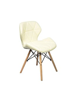 Scaun living Unic Spot, model Alia, Bej, piele artificiala, 53 x 48 x 72.5 cm imagine 2021