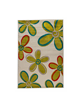Covor Floral Malvina, Verde, 160x235 cm, C97-032220