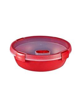 Cutie alimente MICRO-WAVE, CURVER, 1 L, pentru microunde folosire pentru gatit cu aburi, 19.8 x 6.6 x 19.8 cm, rotunda, plastic, Rosu