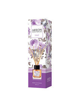 Odorizant cu betisoare Areon Home Perfume, 50 ml, Violet imagine