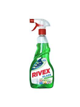 Solutie pentru curatat geamuri Rivex, cu pulverizator, spring fresh, 750 ml imagine