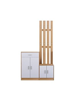 Set UnicSpot mobilier hol Furiani, MDF, 88 x 32 x 187 cm imagine