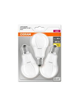 Set 3 becuri Led Osram, E27, 9W, 806 lumeni, lumina calda imagine