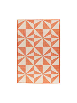 Covor Modern & Geometric Jorvik, Decorino, C23-032504, 100 x 150 cm, polipropilena, Portocaliu
