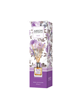 Odorizant cu betisoare Areon Home Perfume, 150 ml, Violet imagine