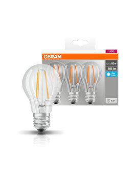 Set 3 becuri Led, Osram, E27, 230V, 6.5W, 470 lumeni, lumina neutra imagine