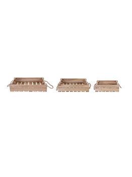 Set tavi servire din lemn, Koopman Int., 3 piese elefant