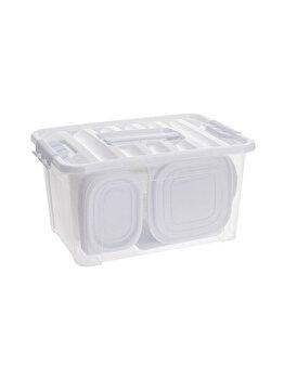 Set 44 caserole Excellent Houseware, 362000040, 40 x 27 x 20 cm, plastic, Alb