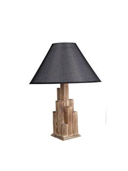 Veioza Luin 8300-1M, corp de culoare natur, abajur negru imagine