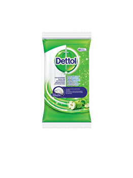 Servetele dezinfectante Dettol 40 bucati, aroma mar verde imagine