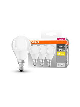 Set 3 becuri Led Osram, E14, 5/7W, 470 lumeni, lumina calda imagine
