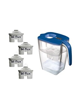 4 filtre Laica Bi-flux + Cana filtranta de apa Laica BIG Milano, J908C, Albastru imagine