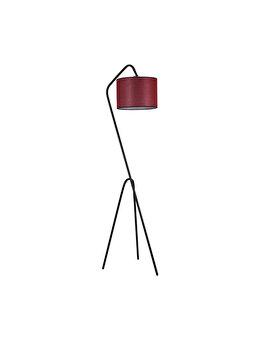 Lampadar Luin 8302-5, corp negru, abajur burgundy imagine