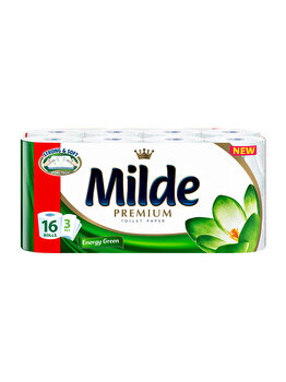 Hartie igienica Milde Energy Green, 3 straturi, 16 role imagine