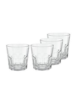 Set pahare wisky Excellent Houseware, 4 piese, 250 ml