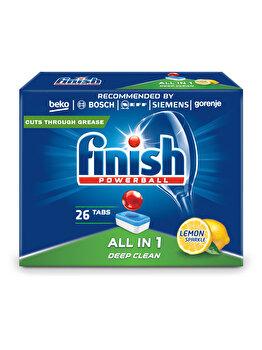 Detergent vase pentru masina de spalat Finish All in One Lamaie, 26 tablete imagine