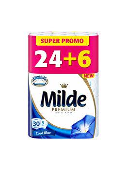 Hartie igienica Milde Cool Blue, 3 straturi, 24+6 role imagine