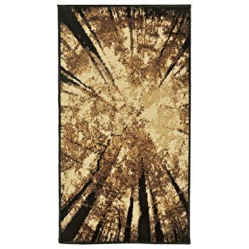 Covor Decorino Floral C05-020177, 60 x 110 cm, polipropilena, Maro