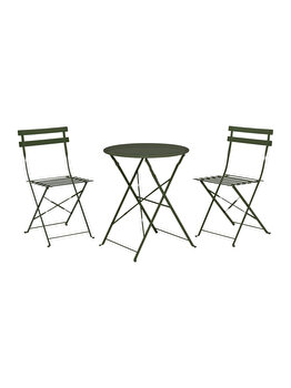 Set gradina 3 piese Koopman Int., 2 scaune si o masa, verde imagine