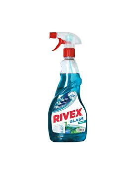 Solutie pentru curatat geamuri Rivex, cu pulverizator, menta, 750 ml imagine