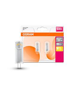 Set 2 becuri Led Osram, G4, 1,8W, 200 lumeni, lumina calda imagine