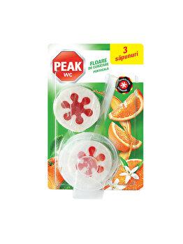 Odorizant Peak WC Mega Pack, Floare de curatare, portocala, 3 x 45 g imagine 2021