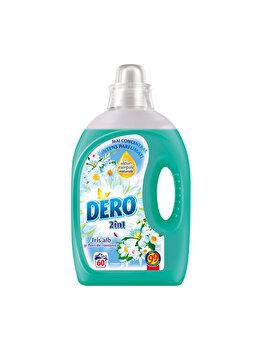 Detergent lichid Dero 2 in 1 Iris alb, 60 spalari, 3 l