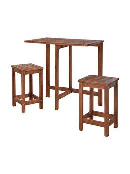 Set mobilier 3 piese pentru balcon, Koopman Int., din lemn de acacia imagine