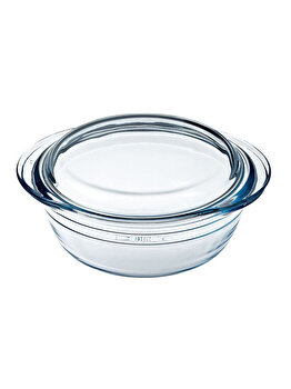 Vas termorezistent capac, Ocuisine, 40491, 1 L, sticla termorezistenta, Incolor imagine