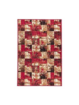 Covor Patchwork Jasper, Maro/Rosu, 160x235 cm, C97-031106