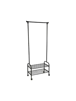 Suport haine Haven, UnicSpot, 60 x 31 x 163 cm, metal/plastic, Negru