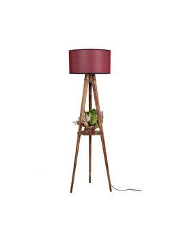 Lampadar Luin 8283-1, abajur rosu burgundy imagine