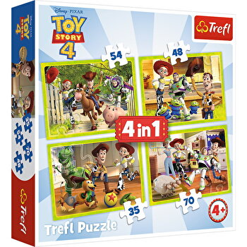 Puzzle 4 in 1 - Eroii Toy Story 4 in actiune