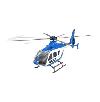 Elicopter din metal Airbus EC 135, albastru