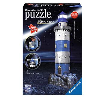 Puzzle 3D - Farul noaptea, 216 piese