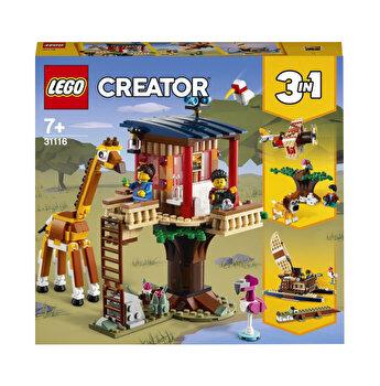 LEGO Creator 3 in 1 - Casuta din copac cu animale salbatice din safari 31116