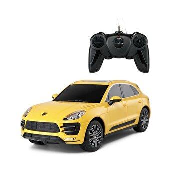 Masina cu telecomanda Porsche Macan Turbo, galben, scara 1 la 24