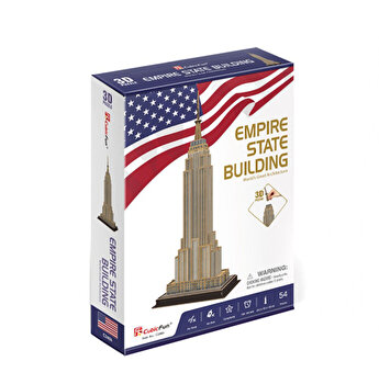 Puzzle 3D - Empire State Building, 54 piese