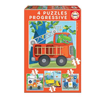 Puzzle-uri progresive Rescue Patrol, 6-9-12-16 piese