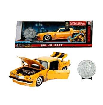 Masinuta metalica Transformers 1977 Chevy Camaro, scara 1:24