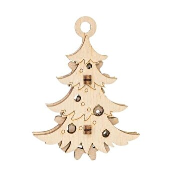 Puzzle 3D Eco Wood Art Christmas Tree, 8 piese