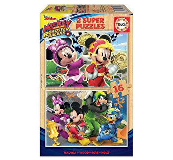 Puzzle Mickey and The Roadster Racers, 2 x 16 piese