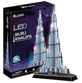 Puzzle 3D Led - Burj Khalifa, 136 piese