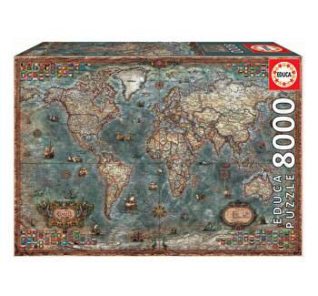 Puzzle Historical World Map, 8000 piese
