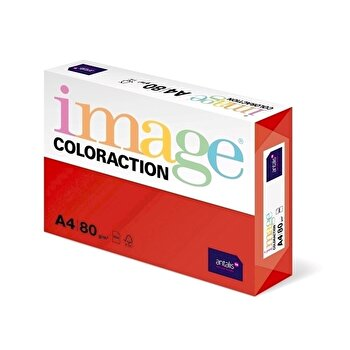 Hartie color Coloraction, A4, 80 g/mp, rosu-Chile, 500 coli/top