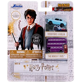 Set 2 masinute Harry Potter - The Knight Bus si Ford Anglia 1959