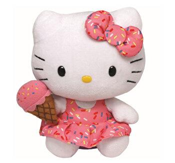Hello Kitty cu inghetata - plus Ty, 15 cm, Beanie Babies