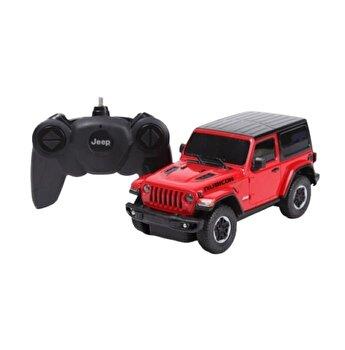 Masina cu telecomanda Jeep Wrangler JL rosu scara 1:24